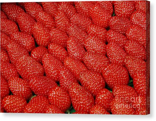 Vegetable Stands Canvas Print - Red And Ripe by Allen Beatty