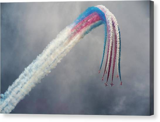 Formation Canvas Print - Red Arrows by