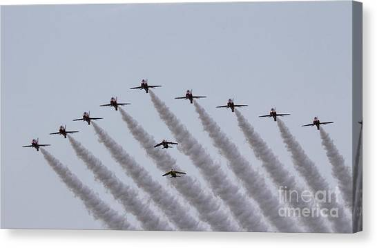 Gnats Canvas Print - Red Arrows And Gnats by J Biggadike