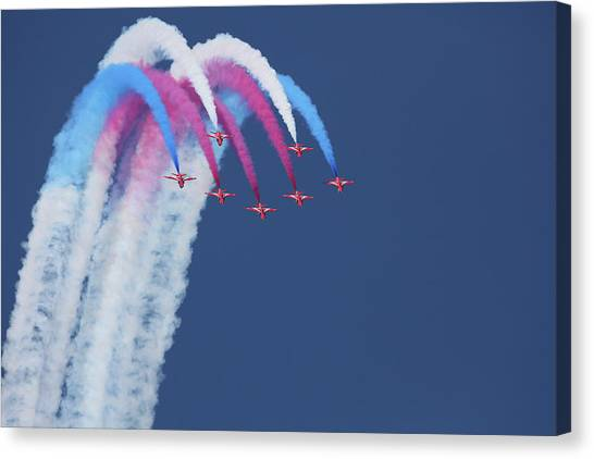Airplanes Canvas Print - Red Arrows by Jonathan Simons