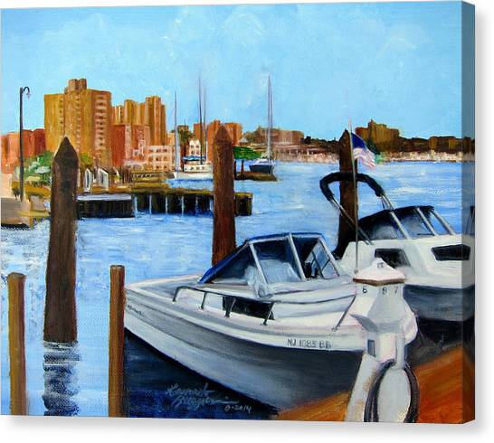 Red Bank Nj From Marine Park Canvas Print