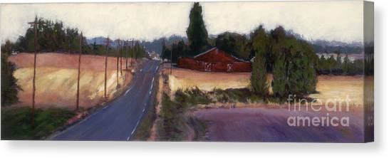 Red Barn - Rural Oregon Canvas Print