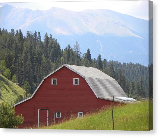 Barn - Pikes Peak Burgess Res Divide Co Canvas Print