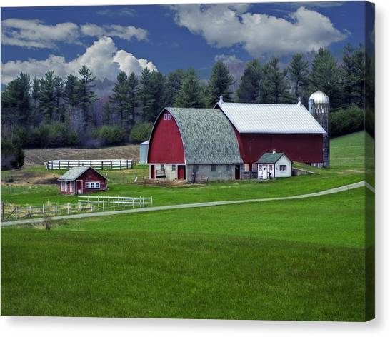 Red Barns Canvas Print