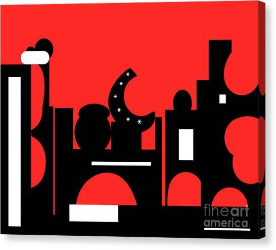 Red Bazaar Canvas Print