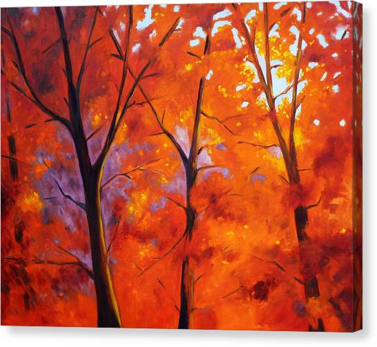 Red Blaze Canvas Print