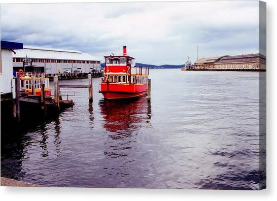 Canvas Print featuring the photograph Red Boat by David Rich
