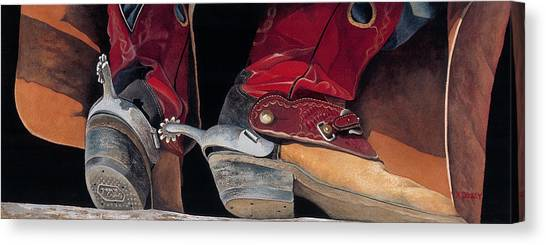 Red Boots Canvas Print
