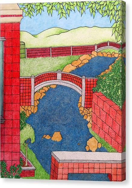Red Bridges Canvas Print