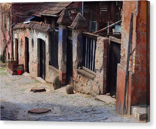 Red Bucket Canvas Print