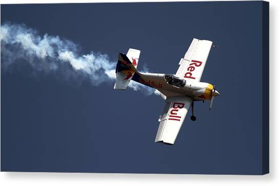 Red Bull - Aerobatic Flight Canvas Print