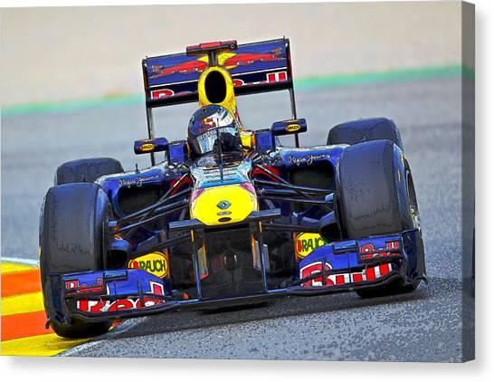 Red Bull Formula 1 Racing Canvas Print