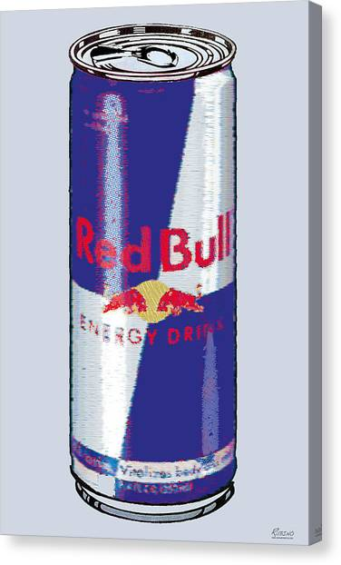 Red Bull Ode To Andy Warhol Canvas Print