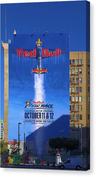 Red Bull On Olympic  Canvas Print
