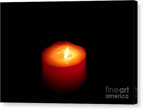 Red Candle Canvas Print by William Voon