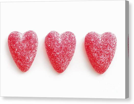 Passionate Canvas Print - Red Candy Hearts by Elena Elisseeva