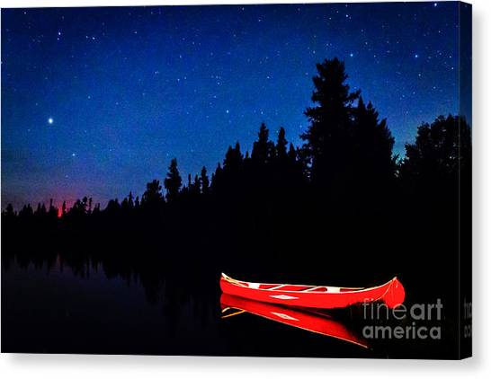 Red Canoe I Canvas Print