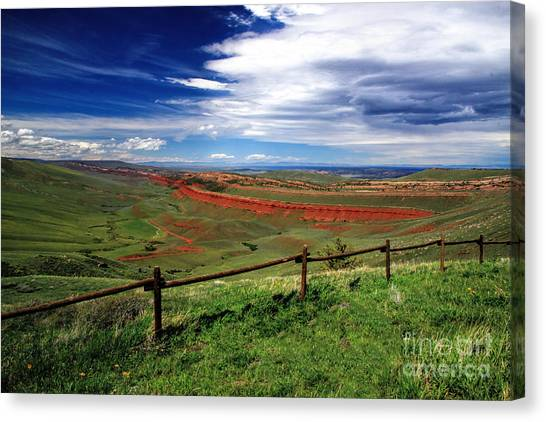 Red Canyon Wyoming Canvas Print