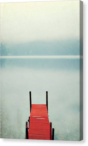 Dock Canvas Print - Red by Carrie Ann Grippo-Pike