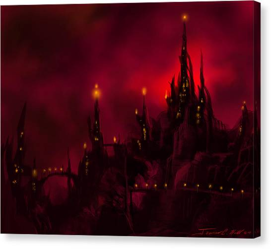 Red Castle Canvas Print