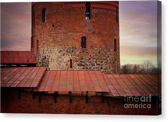 Red Castle Walls Canvas Print by Jolanta Meskauskiene