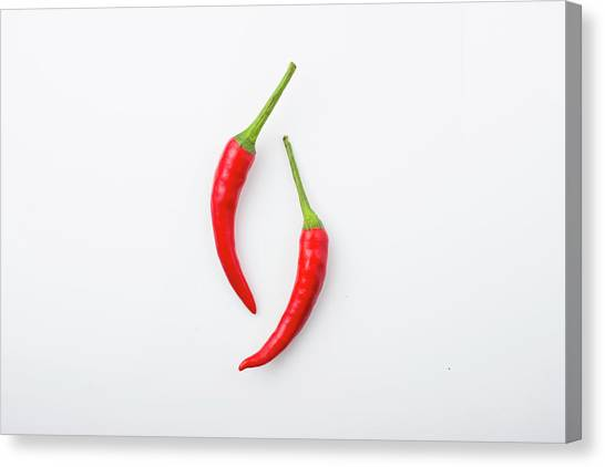 Red Chili Pepper Canvas Print by Jay's Photo