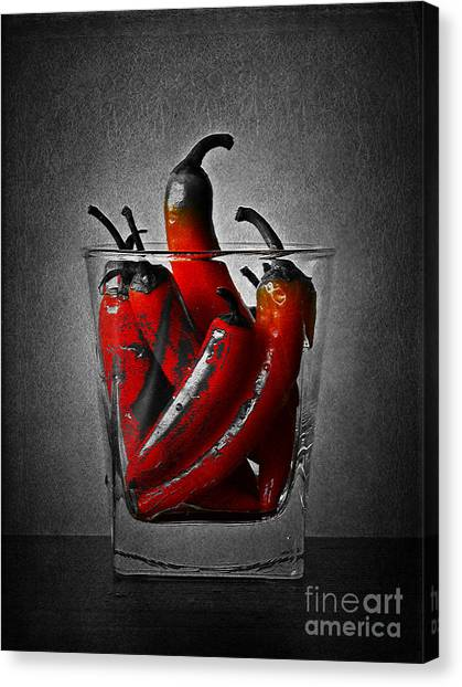 Red Chili Peppers Canvas Print