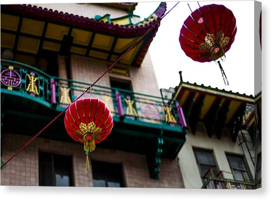 Red Chinese Lanterns Canvas Print by SFPhotoStore