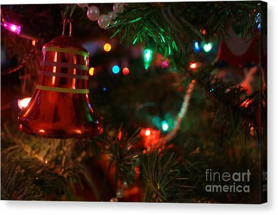 Red Christmas Bell Canvas Print