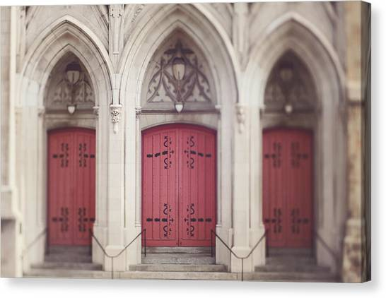 Red Church Doors Canvas Print