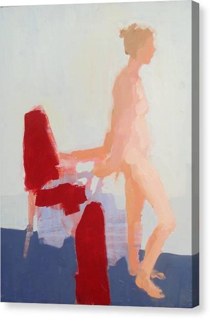 Red Cloth Canvas Print by Cynthia Harvey