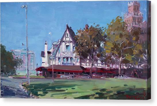 Niagara Canvas Print - Red Coach Inn Niagara Falls Ny  by Ylli Haruni