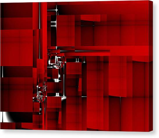 Red Construction I Canvas Print