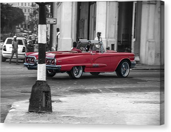 Red Convertible Canvas Print