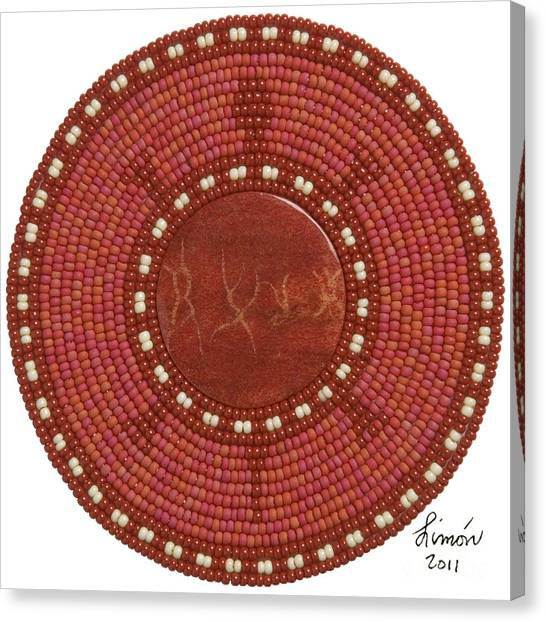 Canvas Print featuring the mixed media Red Coral by Douglas K Limon