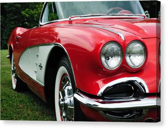Red Corvette Canvas Print