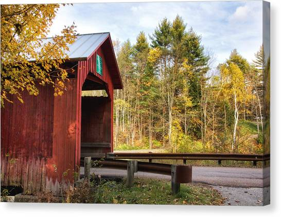 Red Covered Bridge   Canvas Print