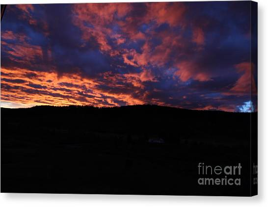 Canvas Print featuring the photograph Red Dawn by Ann E Robson