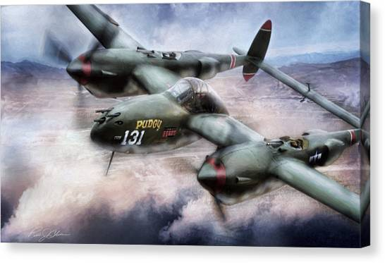 United States Army Air Corps Canvas Print - Red Devil Ace by Peter Chilelli