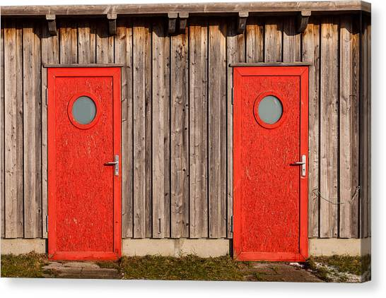 Red Door Or Red Door Canvas Print