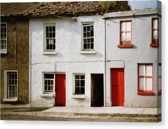Dilapidation Canvas Print - Red Doors Dilapidation by Val Byrne