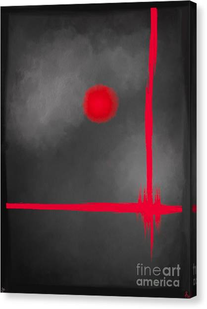 Red Dot Canvas Print