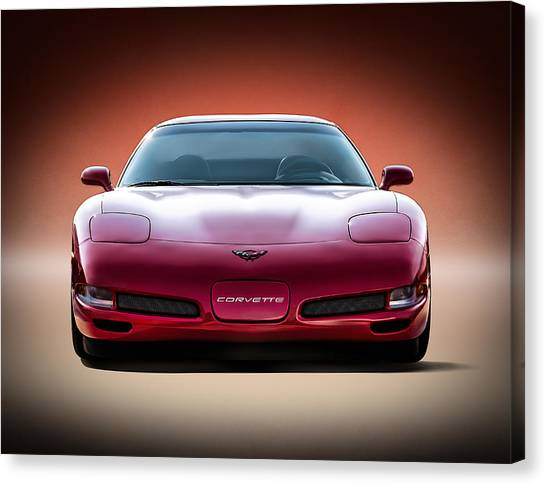 Chevy Canvas Print - Red by Douglas Pittman