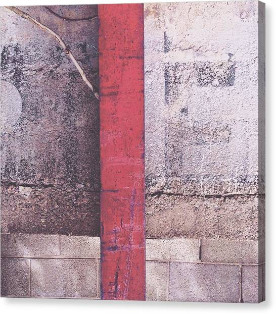 Old Age Canvas Print - Red E? by Rene Constantin