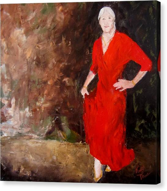 Red Ellegance Canvas Print