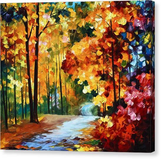 Paths Canvas Print - Red Fall by Leonid Afremov