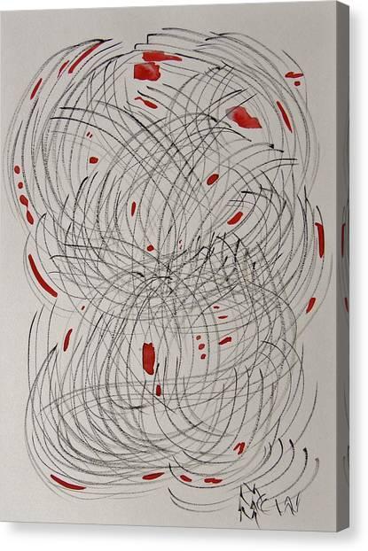 Red Fan Canvas Print