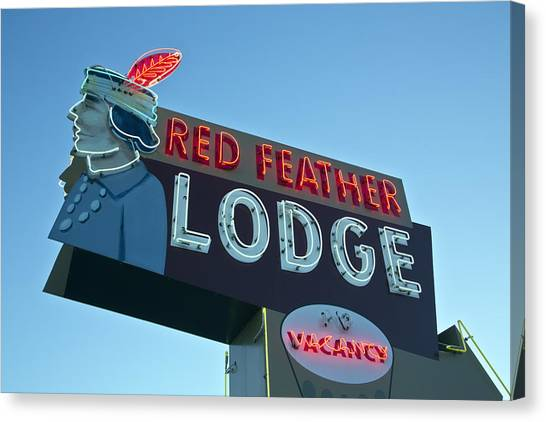 Red Feather Lodge Canvas Print
