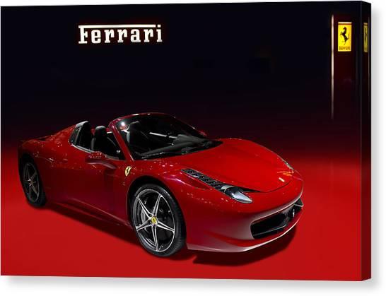 Red Ferrari Convertible Canvas Print