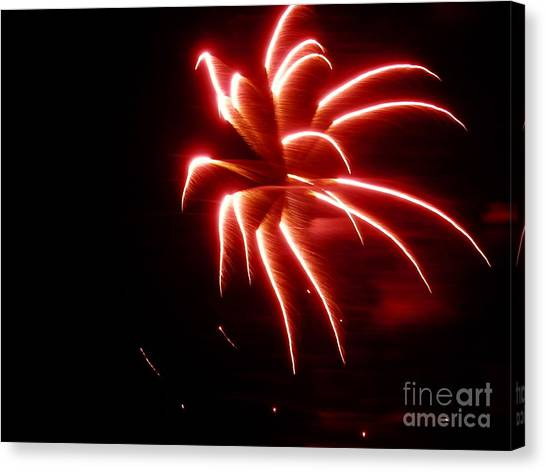 Cookout Canvas Print - Red Fire By Aclay by Angelia Hodges Clay